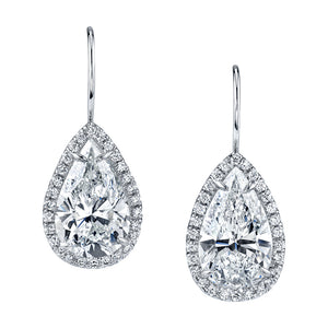 Pear-Shaped Diamond Pave Earrings