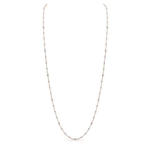 Emerald-Cut Diamond Chain Necklace