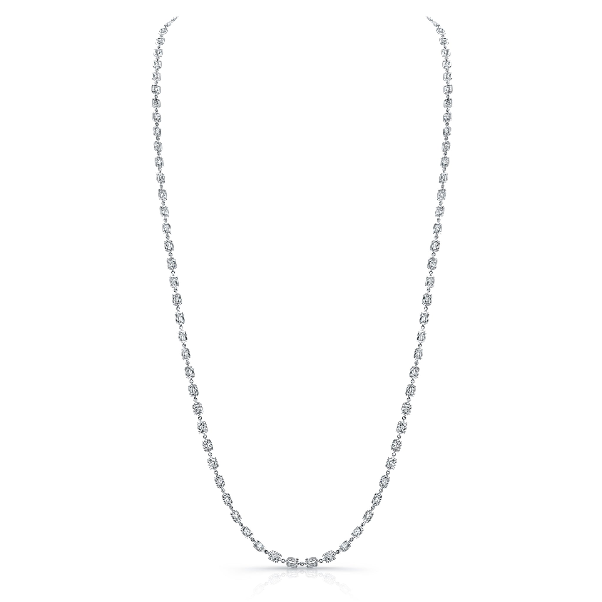 Platinum Diamond Chain Necklace