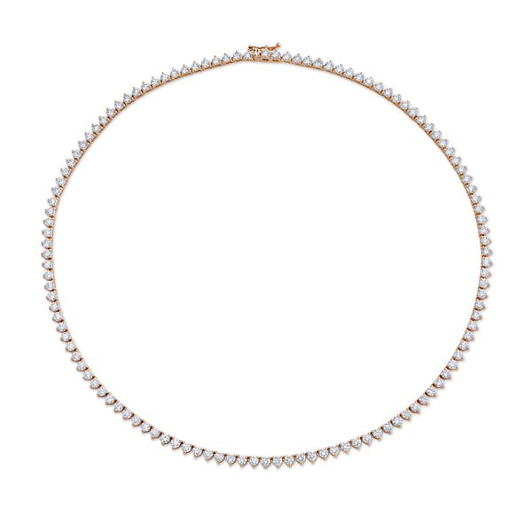 Round-Cut Diamond Necklace