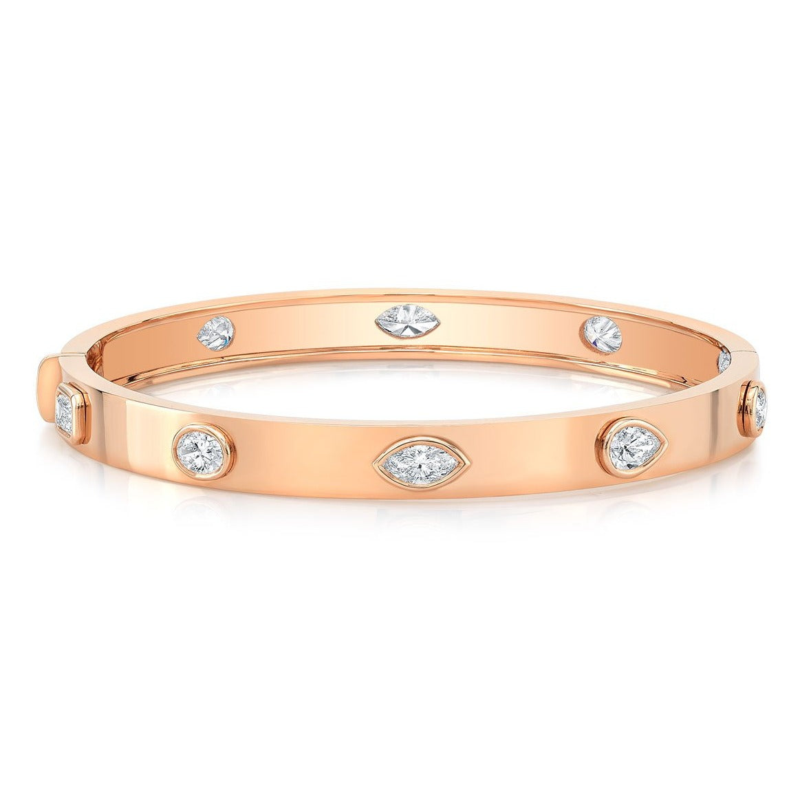 Fancy Shaped Diamond Bangle