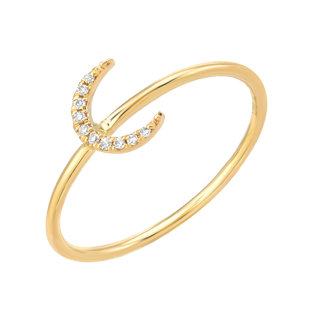 PETITE CRESCENT MOON STACKABLE RING