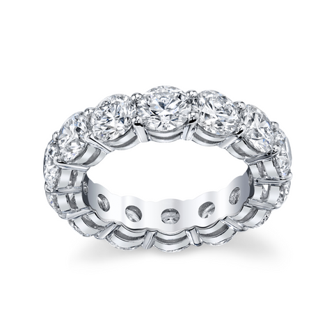 Round-Cut Diamond Eternity Band