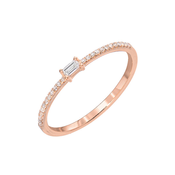 SMALL BAGUETTE DIAMOND HALFWAY BAND