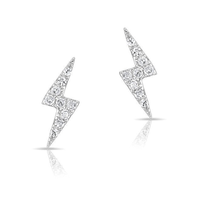 stud and products bolt lightning strand queue diamond stone earring pave