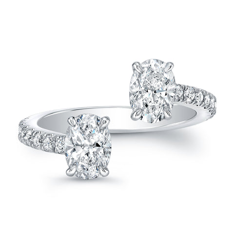 Oval-Cut Diamond Pave Open Band