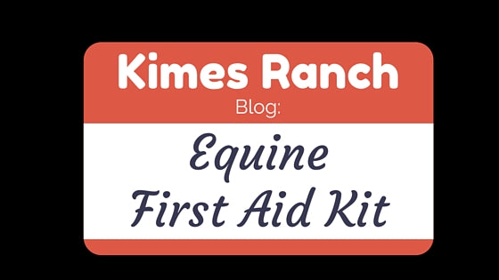 Equine First Aid Kit Checklist