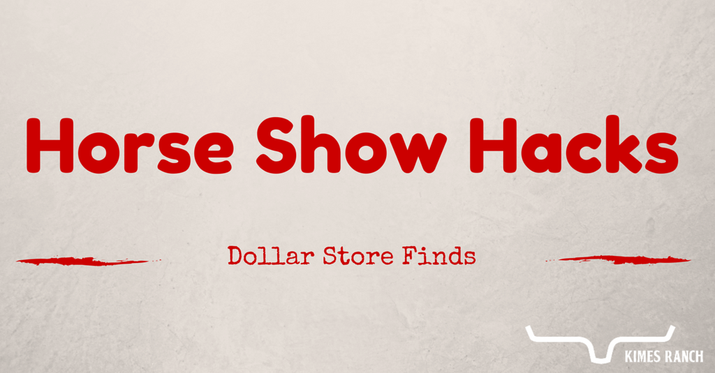 Horseshow Hacks: Dollar Store Finds