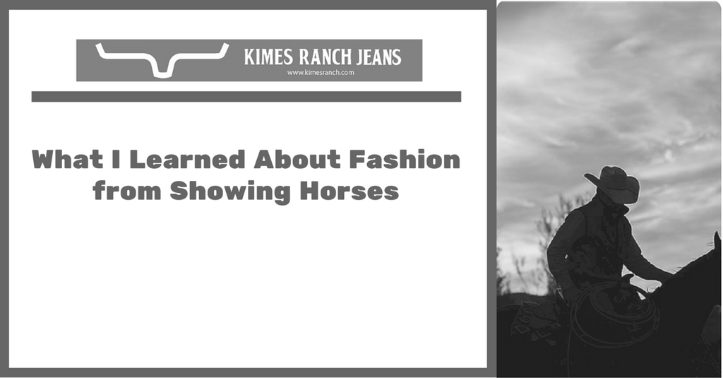 What I learned about Fashion from showing horses