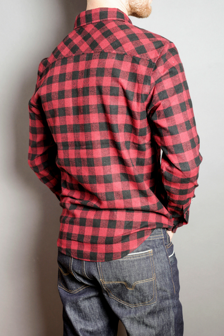 Bison Plaid Flannel Shirt