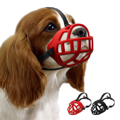 Soft Rubber Dog Muzzle  Straps