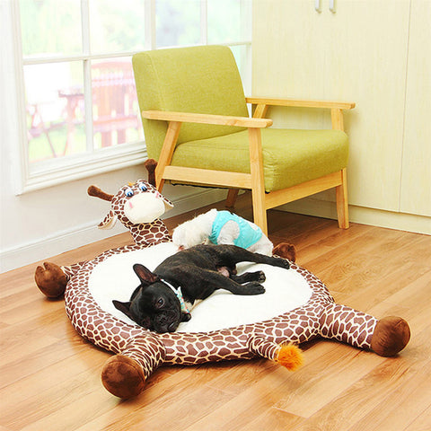 Giraffe Handcrafted Cozy Dog Beds