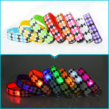 Luminescent Rhombus LED Nylon Dog Collar