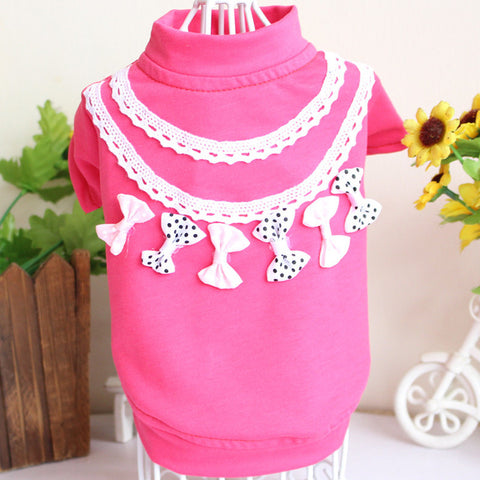 100% Cotton Clothes knitted Lace for Pet