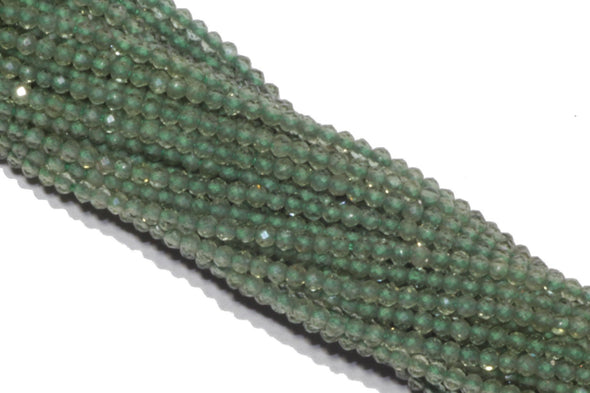 Green Apatite 2mm Faceted Rounds