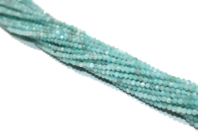 Blue Amazonite 2mm Faceted Rounds