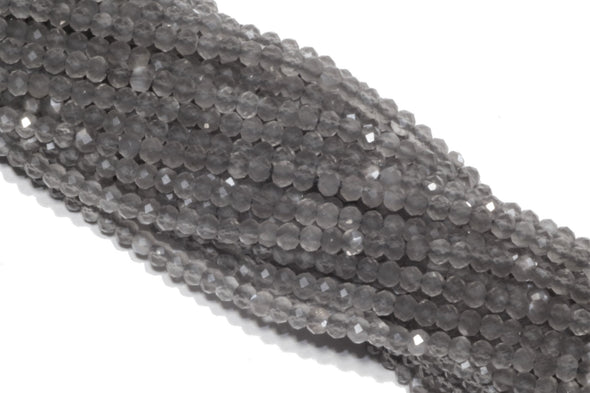 Gray Moonstone 3mm Faceted Rondelles