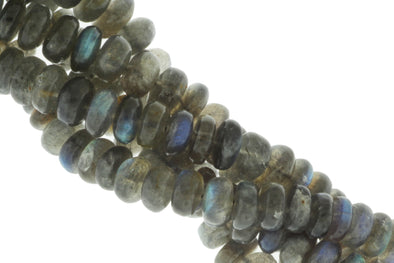 Blue Labradorite 7mm Smooth Rondelles