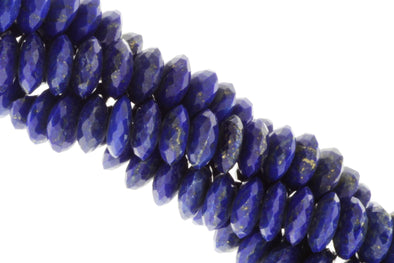 Royal Blue Lapis Lazuli 10mm Faceted Rondelles