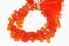 Orange Carnelian 8x6mm Faceted Pear Shaped Briolettes
