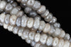 Coated Gray Moonstone 8mm Faceted Rondelles