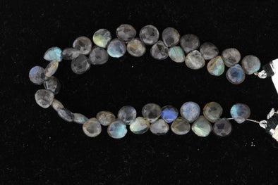Blue Labradorite 7mm Faceted Heart Shaped Briolettes