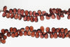 Red Garnet 11x7mm Faceted Pear Shaped Briolettes Bead Strand