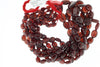 Red Garnet 6x4mm - 11x9mm Smooth Ovals Bead Strand