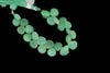 Apple Green Chrysoprase 13mm Faceted Heart Shaped Briolettes Bead Strand