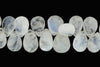 "Blue Rainbow Moonstone 11x7mm Faceted Pear Shaped Briolettes 8"" Bead Strand"