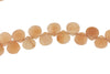Peach Moonstone 7mm Faceted Heart Shaped Briolettes