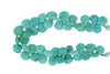 Natural Blue-Green Turquoise 12mm Faceted Heart Shaped Briolettes
