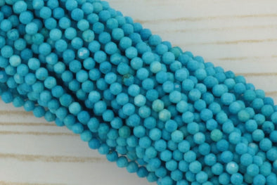 Blue Turquoise (R) 2.5mm Faceted Rounds