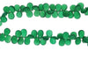 Green Onyx 12x8mm Faceted Pear Shaped Briolettes