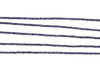 "Blue Iolite 3mm Faceted Rondelles 13"" Bead Strand"