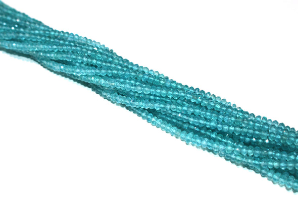 Apatite 3mm Faceted Rondelles