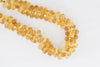 Yellow Citrine 9x5mm Faceted Teardrop Briolettes