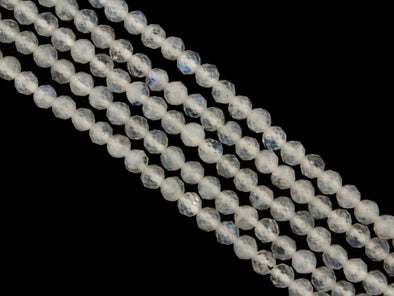 Rainbow Moonstone 3.5mm Faceted Rounds Gemstone Beads