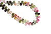 Watermelon Tourmaline 7x5mm Faceted Pear Shaped Briolettes