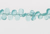 Sea Blue Apatite 7x4mm Smooth Pear Shaped Briolettes