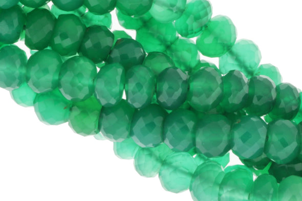 Green Onyx 8mm Faceted Rondelles