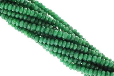 Green Emerald 3mm Faceted Rondelles