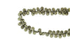 Natural Pyrite 7x5mm Faceted Pear Shaped Briolettes