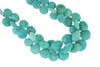 Natural Blue-Green Turquoise 11mm Faceted Heart Shaped Briolettes