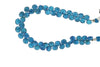 Neon Blue Apatite 7mm Faceted Pear Shaped Briolettes Bead Strand