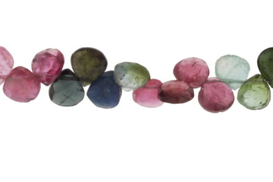 Watermelon Tourmaline 5mm Faceted Heart Shaped Briolettes