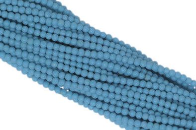 "Turquoise (R) 2.5mm Smooth Rounds 13"" Bead Strand"
