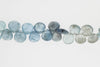 Blue Moss Aquamarine 8mm Faceted Heart Shaped Briolettes
