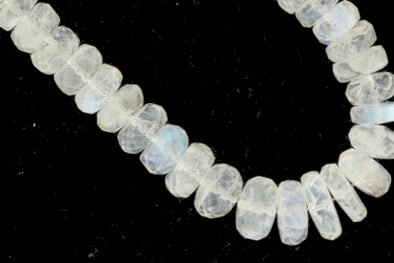 Blue Rainbow Moonstone 5mm Faceted Rondelles