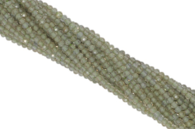 Light Green Zircon 2mm Faceted Rondelles
